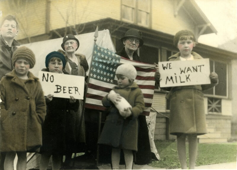 Support for prohibition in USA